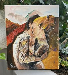 FESTÉK NÉLKÜLI otthoni szett online festéshez MONIKA LUNIAK festményéhez (3)