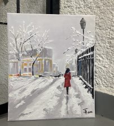ECSET NÉLKÜLI otthoni szett online festéshez CHRISTINA NGUYEN festményéhez - STRUKATÚRPASZTÁS