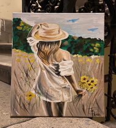 TELJES otthoni szett online festéshez MONIKA LUNIAK festményéhez