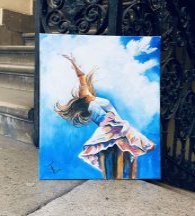 ECSET NÉLKÜLI otthoni szett online festéshez VICTORIJA LAPTEVA festményéhez
